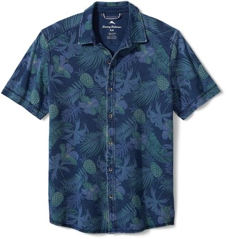 Tommy Bahama Midnight Coral Short Sleeve Button-Up Shirt
