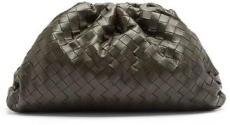 Bottega Veneta The Pouch Large Intrecciato-leather Clutch Bag - Dark Green