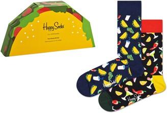 Happy Socks Assorted 2-Pack Taco Socks