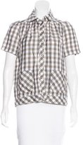 See by Chloe Short Sleeve Button-Up Top