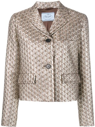 Prada jacquard fitted jacket