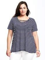 Old Navy Lace-Up Plus-Size Swing Top