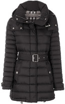 Burberry - belted padded coat