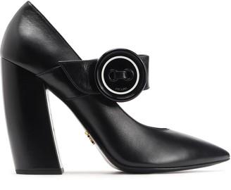 Prada Leather Mary Jane Pumps