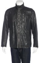John Varvatos Wax-Coated Linen Jacket