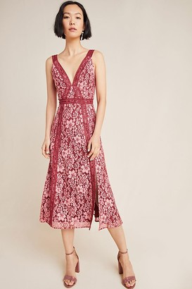 Keepsake Leticia Embroidered Lace Midi Dress