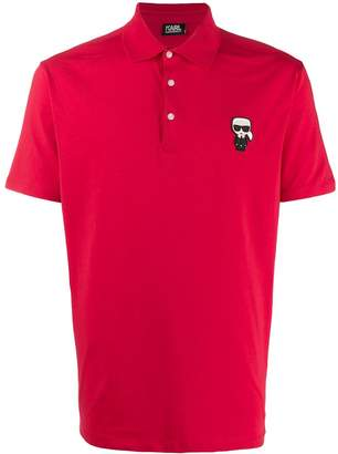 Karl Lagerfeld Paris Ikonik chest patch polo shirt