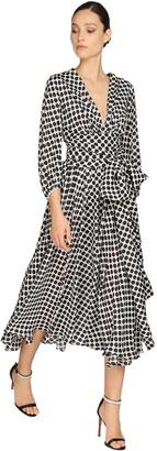 Alexandre Vauthier Polka Dot Satin Chiffon Dress