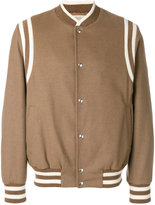 Maison Flaneur striped detail bomber jacket