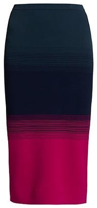 Tanya Taylor Aria Ombre Knit Pencil Skirt