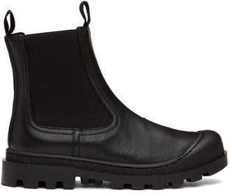 Loewe Black Calfskin Chelsea Boots