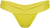 Vix Yellow Pleated Bikini Briefs