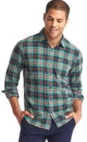 Gap Multi plaid flannel shirt