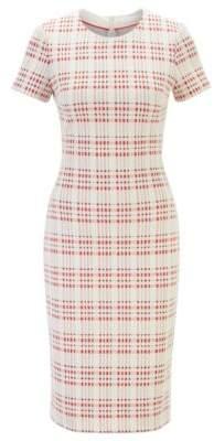 BOSS Regular-fit business dress in a cotton blend