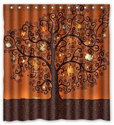 "Shower Curtains Fashionable Bathroom Collection-Custom Tree Of Life Custom Shower Curtain Bath Decor Curtain 66 "" X 72 """