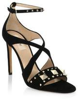 Valentino Lovestud Suede Sandals