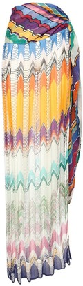 Missoni Viscose Knit Long Skirt W/ Side Slit