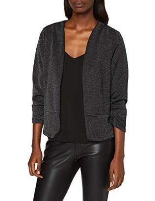 Vero Moda Women's 805249 Suit Jacket, (Black Detail: W. Silver Lurex Thread), 8 (Size: X-Small)