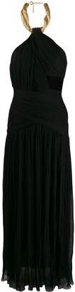 Moschino Asymmetric Draped Gown