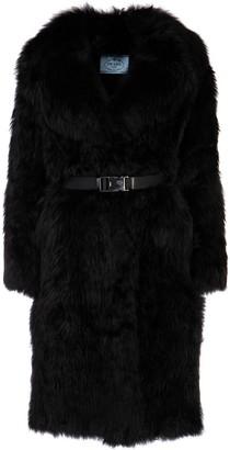 Prada Belted Fur Coat