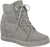 Fashion Thirsty Womens Mid Heel Wedge High Top Ankle Sneakers Lace Up Trainers Boots Size 10