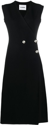 Jil Sander Asymmetric Button Dress