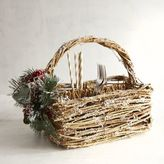 Pier 1 Imports Berry Floral Rattan Utensil Caddy