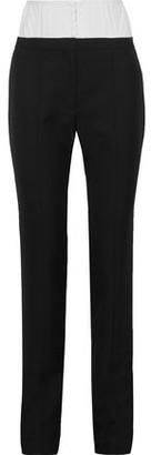 Thierry Mugler Convertible Wool Slim-leg Pants