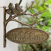Lovebirds Wall-Mounted Welcome Sign