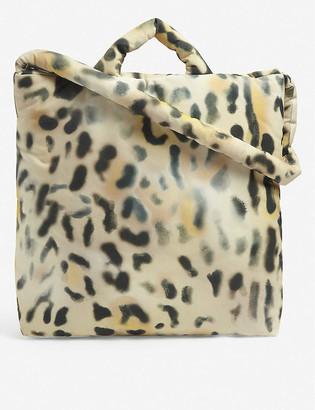 Kassl Editions Tec leopard-print medium shell tote bag