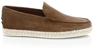 Tod's Suede Espadrille Loafers