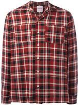 Palm Angels chest pocket plaid shirt - men - Cotton/Linen/Flax - 46