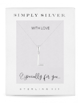 Simply Silver Sterling Silver 925 Polished Alphabet L Pendant