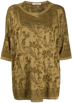 D-Exterior floral print slouchy T-shirt