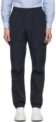 MSGM Navy Ripstop Cargo Pants
