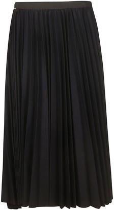 Sacai Long Pleated Skirt