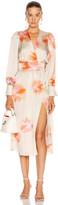 Smythe Wrap Dress in Tie Dye | FWRD