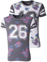 Rock & Religion New Mens Floral Design Tagore Crew Neck T-Shirt Tee Sizes S-Xl