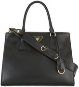 Prada double handles tote - women - Calf Leather/Canvas - One Size