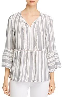 Single Thread Striped Peasant Blouse