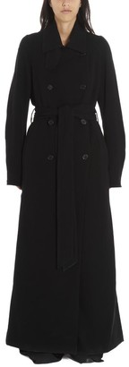 Ann Demeulemeester Long Belted Trench Coat
