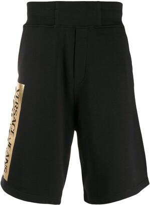 Versace foil logo printed shorts