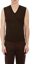 Neil Barrett Men's Wool Sweatervest-BROWN