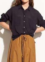 Vince Textured Double Pocket Blouse