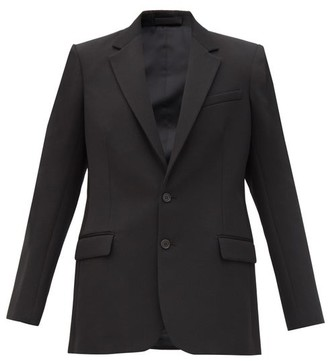 Wardrobe NYC Release 01 Single-breasted Wool Blazer - Black