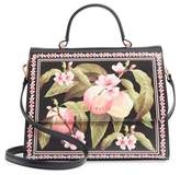 Ted Baker Jarita Peach Blossom Faux Leather Top Handle Satchel - Black