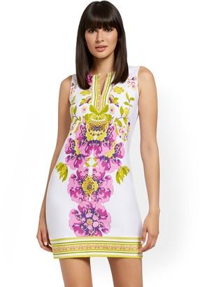 New York & Co. Split-Neck Cotton Shift Dress