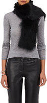 Barneys New York Women's Fur Scarf-BLACK