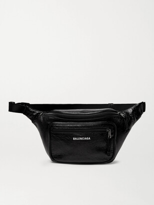 Balenciaga Arena Creased-Leather Belt Bag