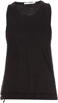 Rag & Bone Raw-edge layered linen tank top